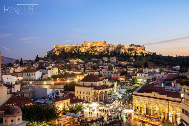 the old historical neighborhood of Athens